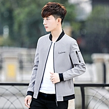 Autumn New Men's Jacket Letter Embroidery Personality Sleeves Slim Casual Men's Jacket