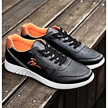 Men's Korean Sport Sneaker Shoes-Black