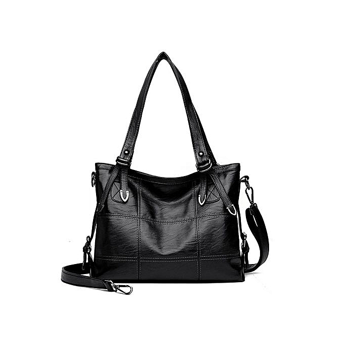 f7b53759e2 Tectores Woman Tote Casual Bags Female Bag Women Leather Handbag Shoulder  Bag Black ...