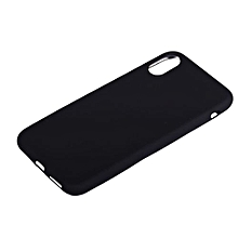 Iphone X Rubber Case Cover - Black