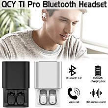 QCY T1 pro TWS business earbuds Bluetooth earphones wireless 3d headphones with microphone handsfree calls noise cancelling   DUXDD