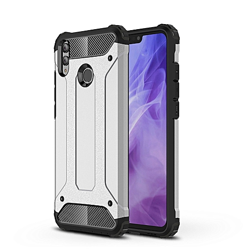 brand new 37c56 3c8ed TPU + PC Armor Combination Back Cover Case for Huawei Honor 8X (Silver)