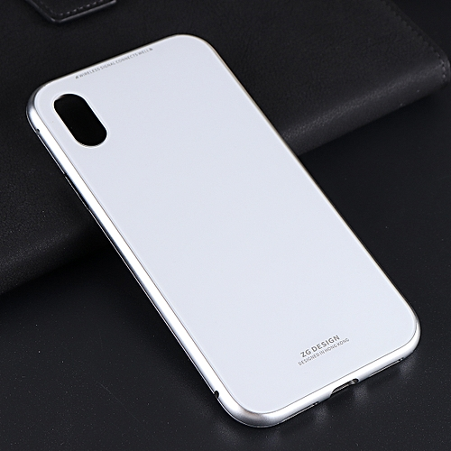 size 40 cdd72 2b906 Luxury Magnetic Adsorption Metal Case Tempered Glass Cover For iphone X 7 8  Plus