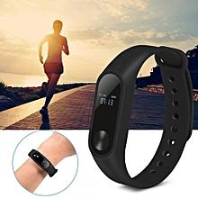 M2 Braccialetto Intelligente Cardiofrequenzimetro Bluetooth Intelligente Banda Salute Fitness Tracker Wristband Dispositivi Indossabili (Black)
