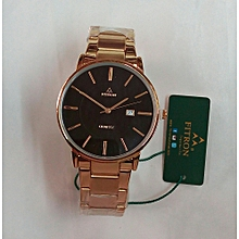Gold Men's Watch With Date