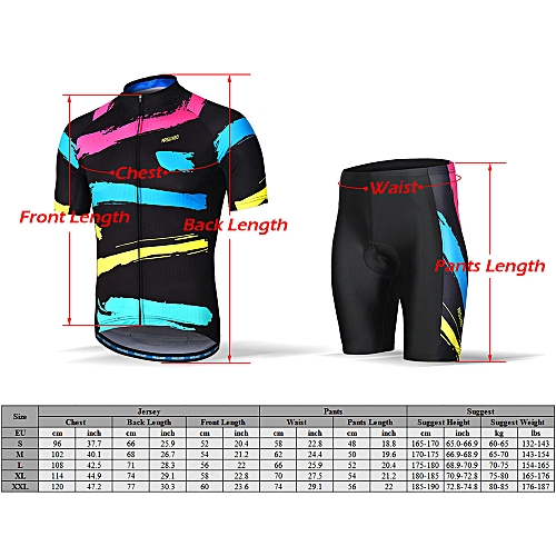 Generic ARSUXEO Men's Cycling Clothing Set Short Sleeve Set Quick-dry Shirt 3D Cushion Padded Short Pants @ Best Price   Jumia Kenya