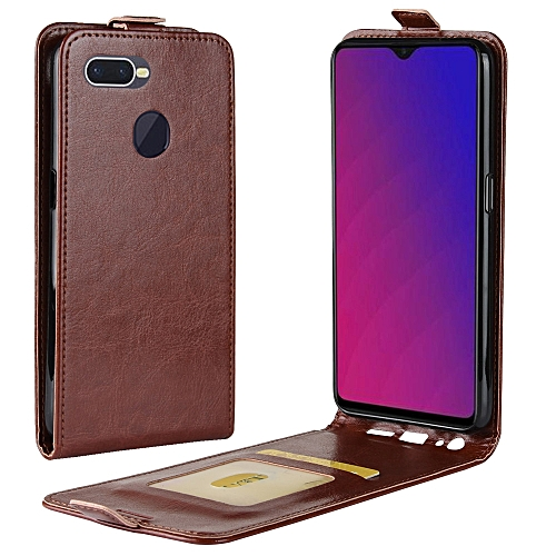 best website bd0f8 f70b3 Business Style Vertical Flip Leather Protective Back Cover Case for OPPO F9  (F9 Pro), with Card Slot(Brown)