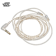 KZ ZST/ED12/ZS10/AS10/ES4 Silver Upgrade Earphone Cable Detachable Audio Cord 3.5mm 3-pole Jack for KZ ZST/ED12 Headphones  XYX-S