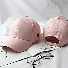 1The letter of alphabet AN embroidery style pinkSored cap female tide student the summer baseball cap stayed overnight the black recreational sun hat of Han Ban chic 2018 hip-hop hats at first