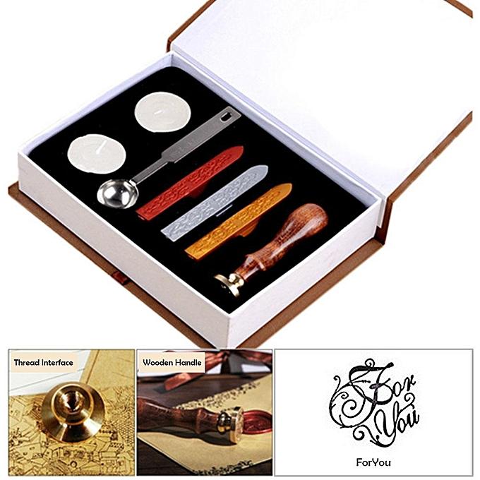 Wax Seal Stamp Kit Hogwarts Magic School Badge Sealing Set Retro Stamps Maker Gift Box