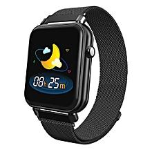 Y6 Pro 1.3 inch TFT Color Screen Smart Bracelet IP67 Waterproof, Steel Watchband,Support Call Reminder /Heart Rate Monitoring /Blood Pressure Monitoring /Sedentary Reminder /Sleep Monitoring(Black)