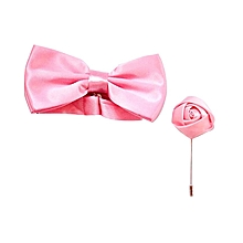 Satin Bow Tie Plus a matching Lapel Pink