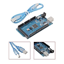 Portable ATmega2560-16AU R3 AVR USB Board With Durable USB Cable For Arduino-blue & Black
