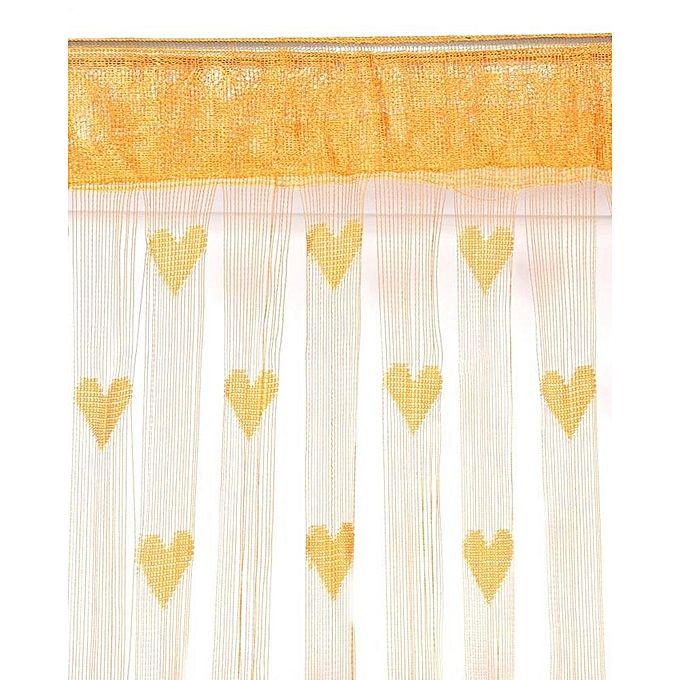 Kitchen Curtains In Kenya: Generic Romantic Heart Shape String Door Curtain