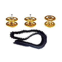 Plastic Track + Driving Wheel + Bearing Wheel Set Accessory For Robot Car Chassis H