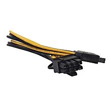 UJ 8Pin(6+2) To 15Pin PCI-E SATA Power Supply Cable For Graphics Card Hard Drive
