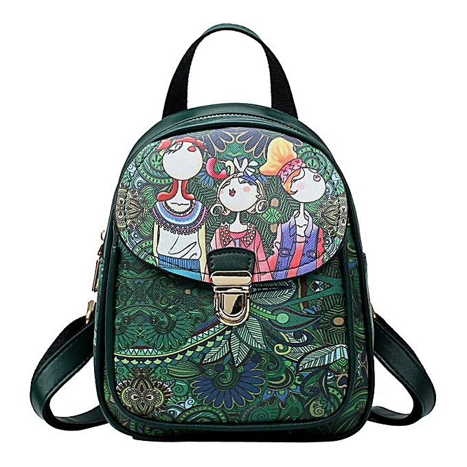 3a0fb95f40 koadong shop Women s Backpack Forest Casual Backpack Headset Bag Student  Travel Bag