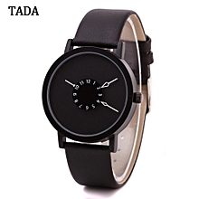 guoaivo TADA Waterproof watches Clock Leather men and women bracelet watches  -Black