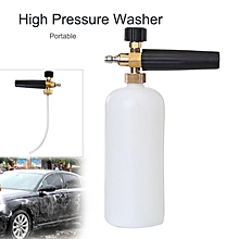 "1/4"" Snow Foam Lance Cannon Washer Bottle High Pressure Car Wash Sprayer Kit"
