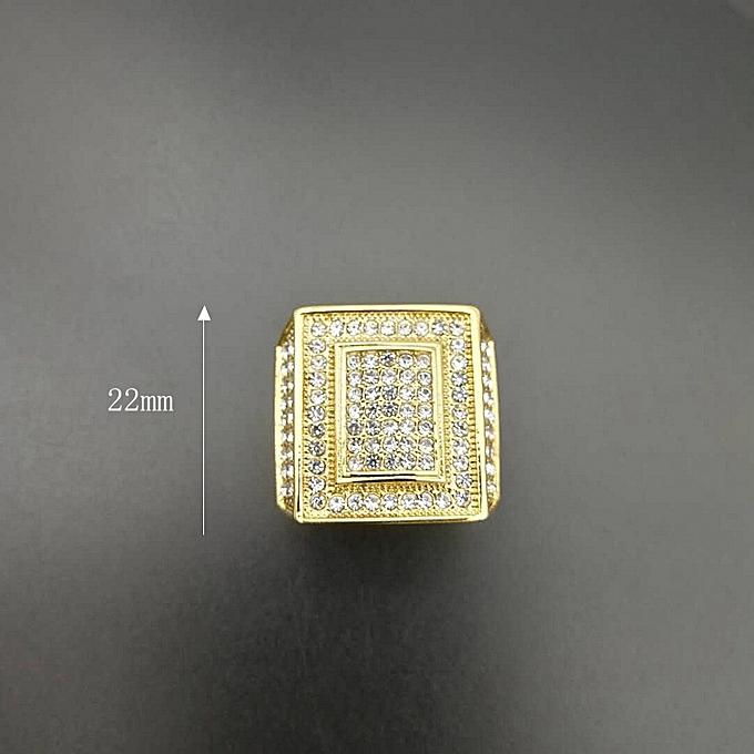 5337fa411a1 Fashion Gold  American code  8-Hip-hop Hiphop Ring Titanium Steel ...