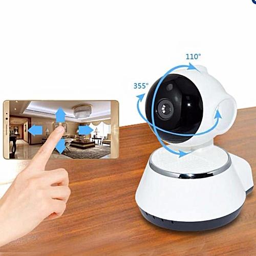 V380 HD 720P Mini IP Camera Wifi Wireless P2P Security Surveillance Camera  Night Vision IR Baby Monitor Motion Detection Alarm (White) TXSHOP
