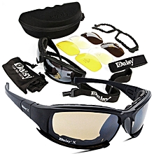 4 Lens Kit Army Goggles Military Sunglasses Men's Outdoor Sports War Game Tactic