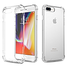 iPhone 8 Plus Crystal Clear Case Shockproof TPU Edge + Rigid PC Hard Back Cover