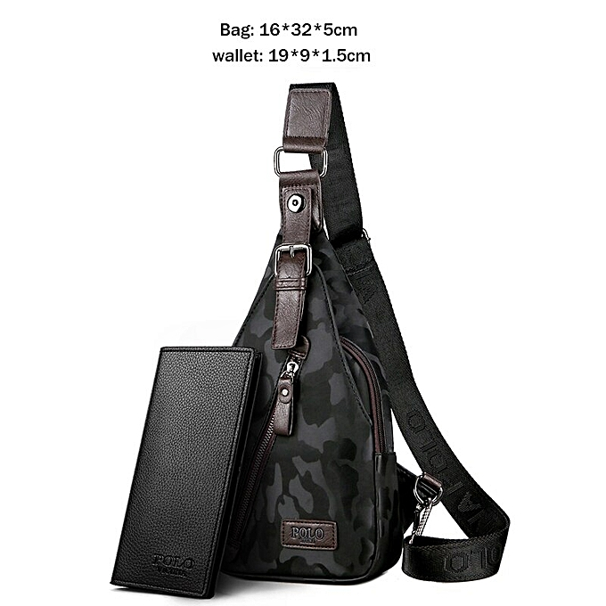 541b34bfedff VICUNA POLO Famous Brand Theftproof Magnetic Button Open Leather Mens Chest  Bags Fashion Travel Crossbody Bag Man Messenger Bag(Set Camouflage ...