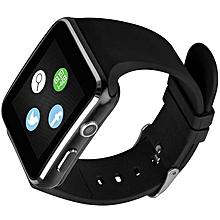 Bakeey X6 Camera SIM Card Call Built-in Apps Sleep Monitor Smart Watch Black