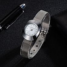Fohting GAIETY Fashion Luxury Quartz Stainless Steel Mesh Belt Wrist Watch Elegant  -Silver