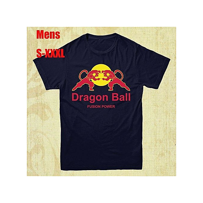 7aab59c6 Generic New Fashion Dragon Ball Z Mens T-Shirt Red Bull Spoof Shirt Goku  Superhero Top Cotton Printed Short Sleeves Funny Graphic Tee Shirt