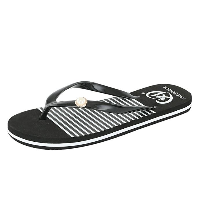 4301e4ede91e Fashion Women Summer Sandals Slippers Leisure Soft Flip Flops Beach ...