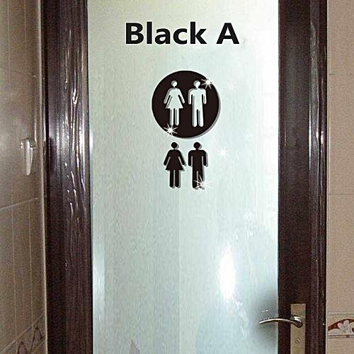 Buy Generic 3d Man Women Toilet Wc Decor Removable Decal Vinyl Art