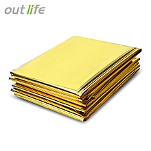 Thermal Mylar Blanket Keep Warm Survival Equipment - Golden