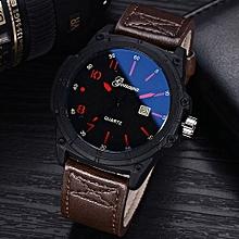 Olivaren GONEWA Men Sport Watch Fashion Military Analog Date Quartz Wrist Daily WatchBrown