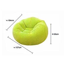 Beanless Bean Bag Chair Green