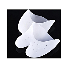 Silicone Toe Cover Silica Gel Foot Care Case Ballet Dance Feet Protector - White