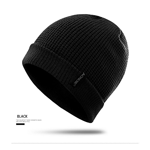 83af399b AONIJIE Winter Knitted Hat Hiking Caps Men Women Windproof Thick Warm  Running Caps Outdoor Sports Ski Snowboarding Caps(Black)