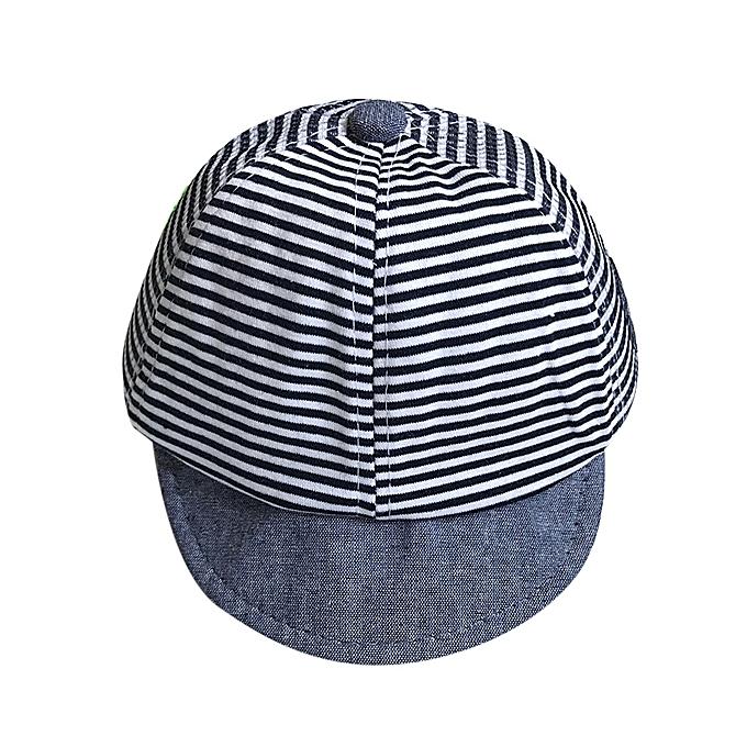 05c8ba39cf7fe9 Summer Hats Cute Casual Striped Soft Eaves Baseball Cap Baby Boy Girl Sun  Hat NY-