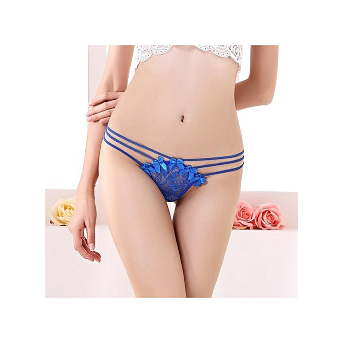 3c6891efa21d78 Refined Sexy Underwear Ladies Transparent Thin Lace Thong Temptation Lure  Low Waist Stretch Underwear T-
