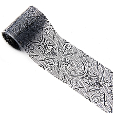 4*100 CM Black Lace Starry Sky Design Nail Art Foil Stickers Transfer Decal Tips-Black