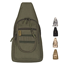 WPOLE A1 Unisex Tactical Bag Chest Backpack Outdoor Hiking Riding Canvas Crossbody Shoulder Bag