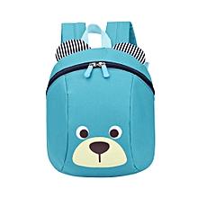 jiuhap store Anti-lost Kids Baby Bag Cute Animal Dog Children Backpacks School Bag Aged 1-3-blue