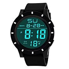 Blicool Wrist Watch Men's Fashion LED Digital Touch Screen Day Date Silicone Wrist Watch-black
