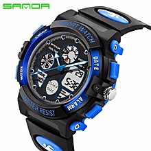 SANDA Children Watch Kids Sports Watches LED Waterproof Dual Display Watch Boy Girl Student Multifunctional Digital Wristwatches 116