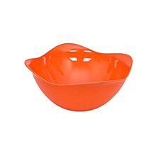 Curved Edge Large Salad Bowl - Orange