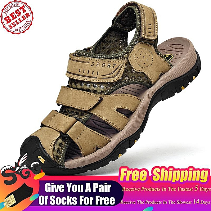 5e47a078e62b Free Shipping 2019 Fashion SGG New Mens Sports Leather Sandals Outdoor  Beach Water Sandal Fisherman Athletics