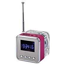 NiZHi TT029  Mini Portable Multimedia Speaker Support Micro SD USB FM Radio-PINK