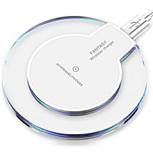 For Apple IPhone 8/8 Plus Portable Wireless Charger Power Qi Charging Pad Mat