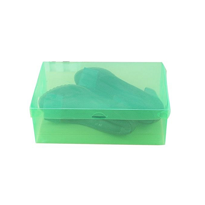 Skywolfeye 1pc Foldable Clear Shoes Storage Box Plastic Stackable